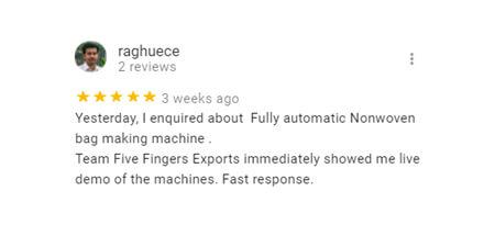 clients-reviews-about non woven bag machine