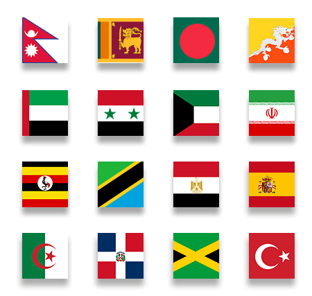 countries we offer