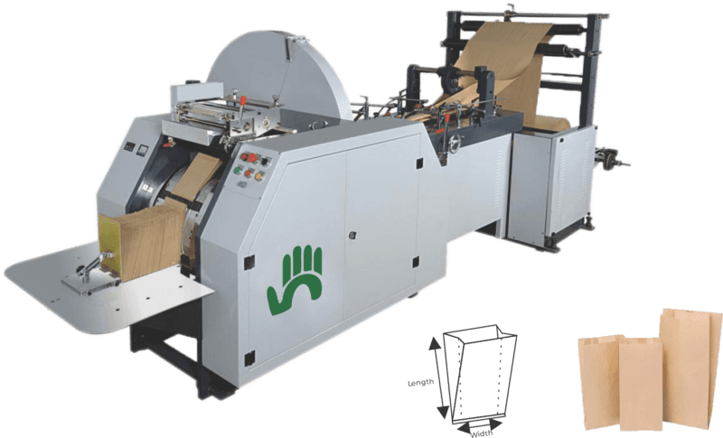 sharp v bottom paper bag making machine supplier at low in india